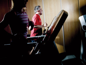 woman treadmill